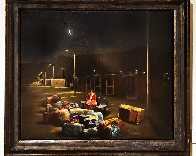 La Noche 2001 oleo pintura realista de Cristobal Toral Museo de la Ciudad de Antequera Malaga