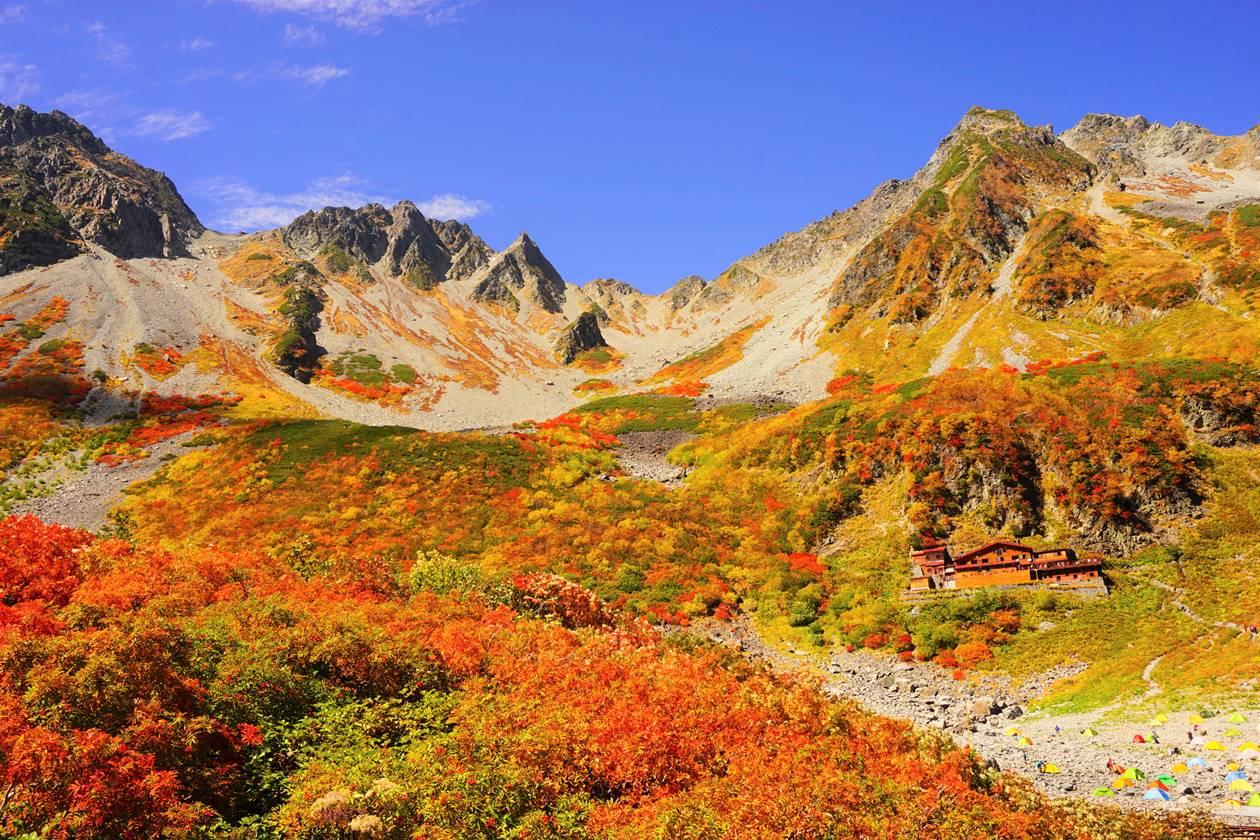 北アルプス涸沢 紅葉登山