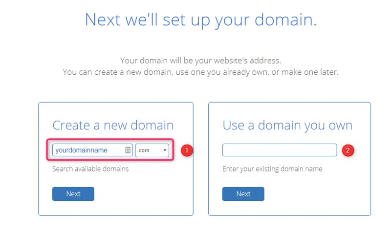 BlueHost domain for WordPress
