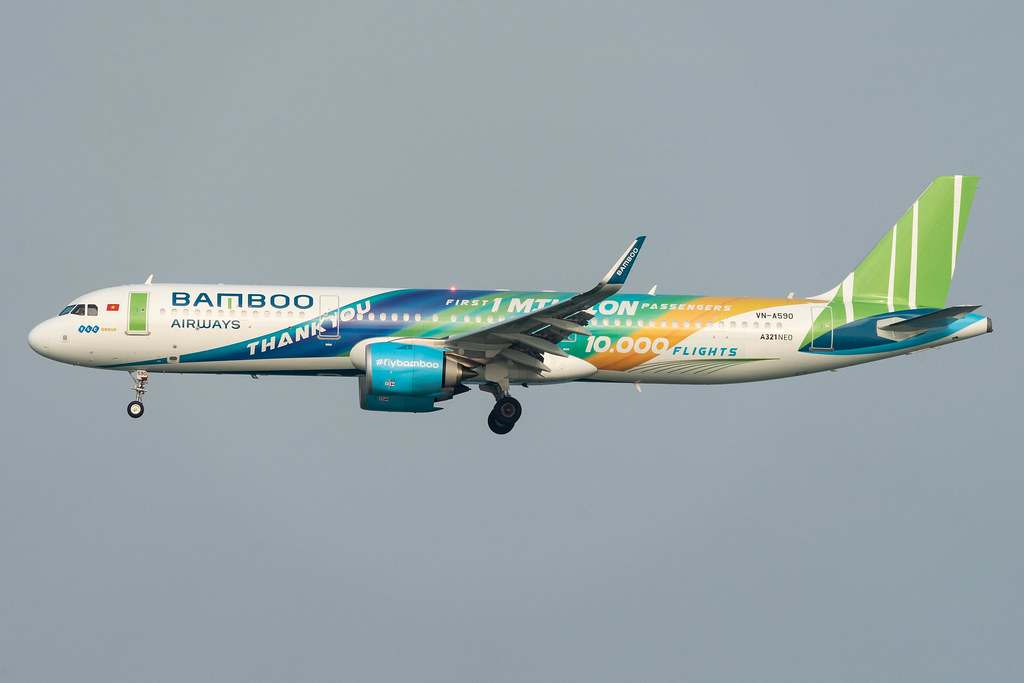 Bamboo Airways A321Neo VN-A590 'Thank you'