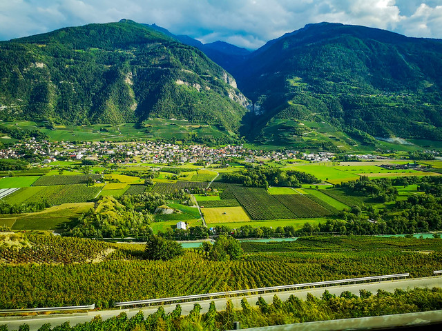 The beauty and grandeur of the Swiiss Alps countryside.