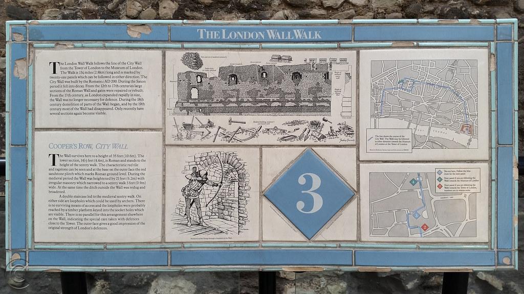 Panel No.3 of The Roman Wall Walk