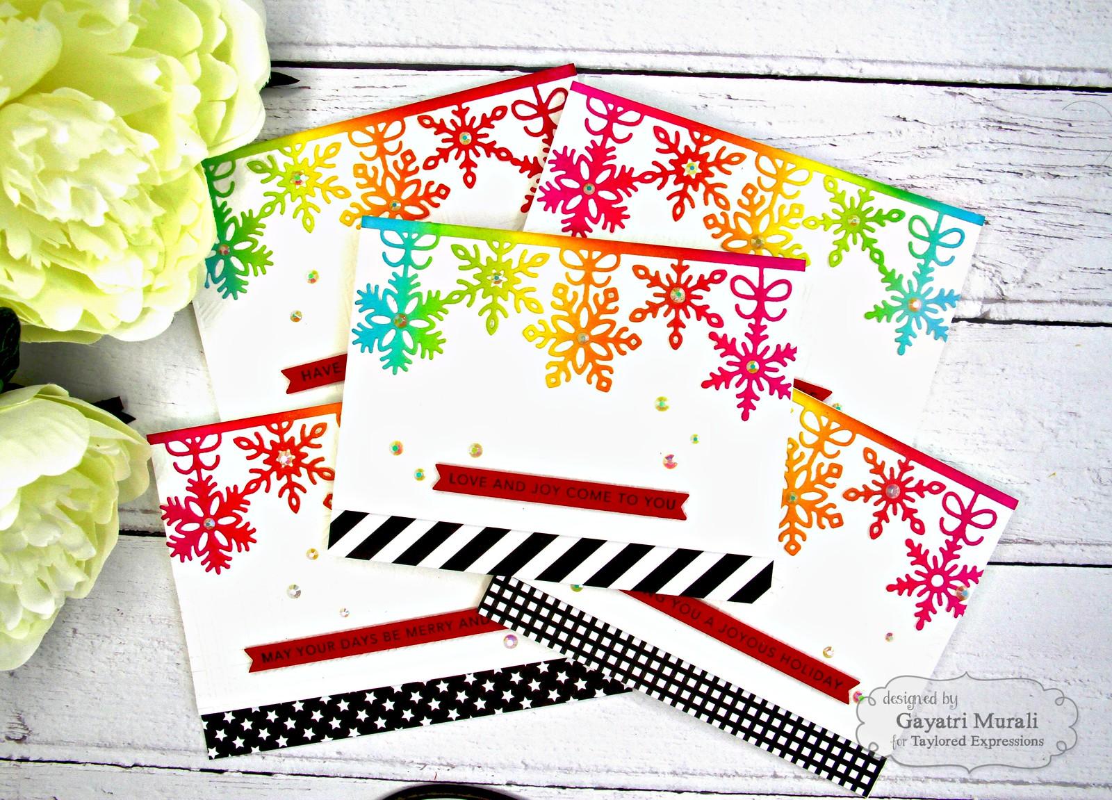 Rainbow Christmas card set