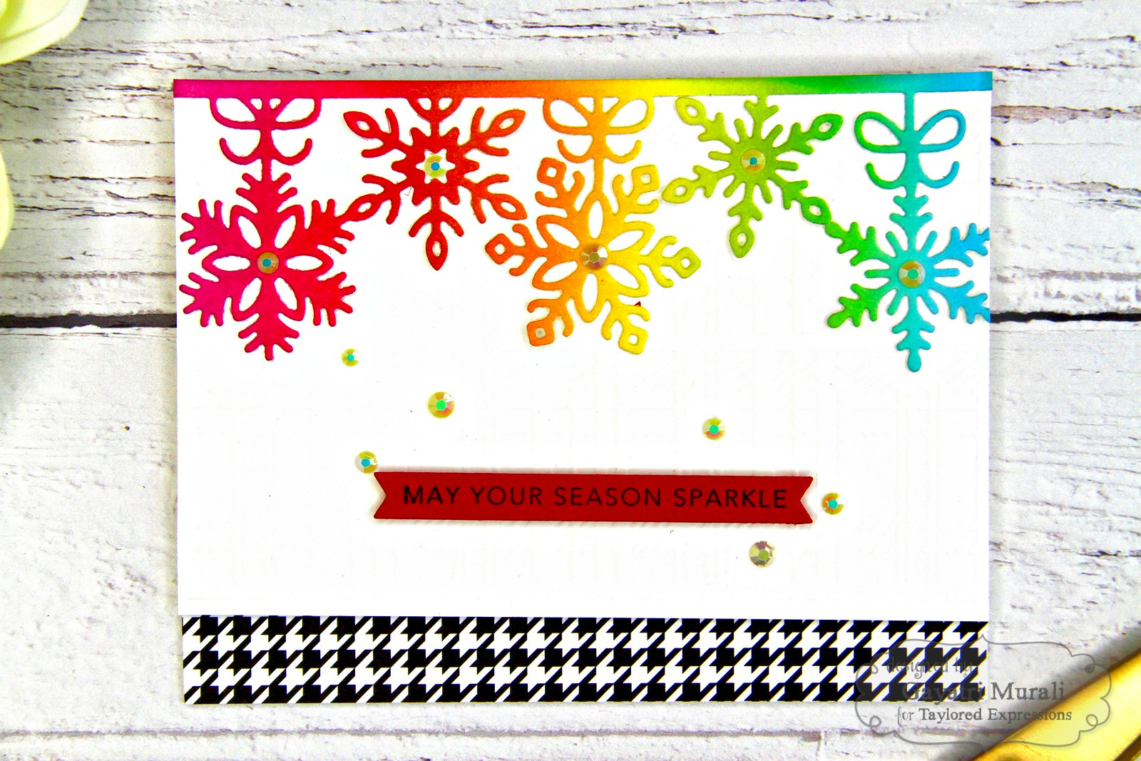Rainbow Christmas card #5