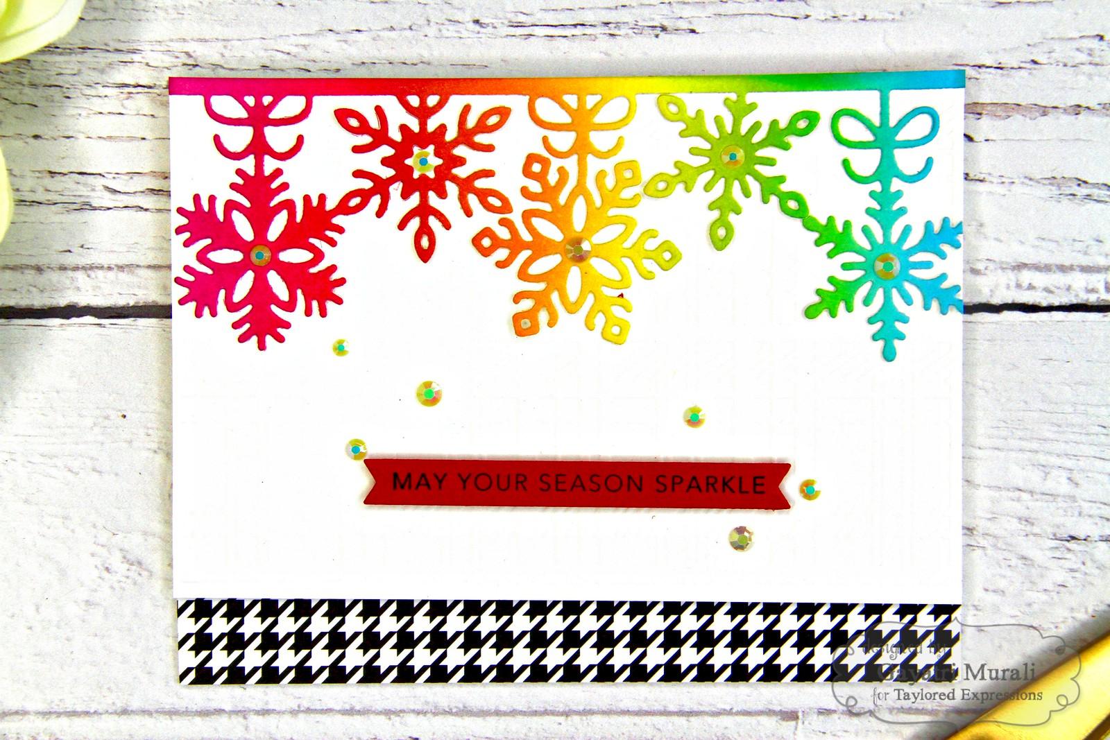 Rainbow Christmas card #5