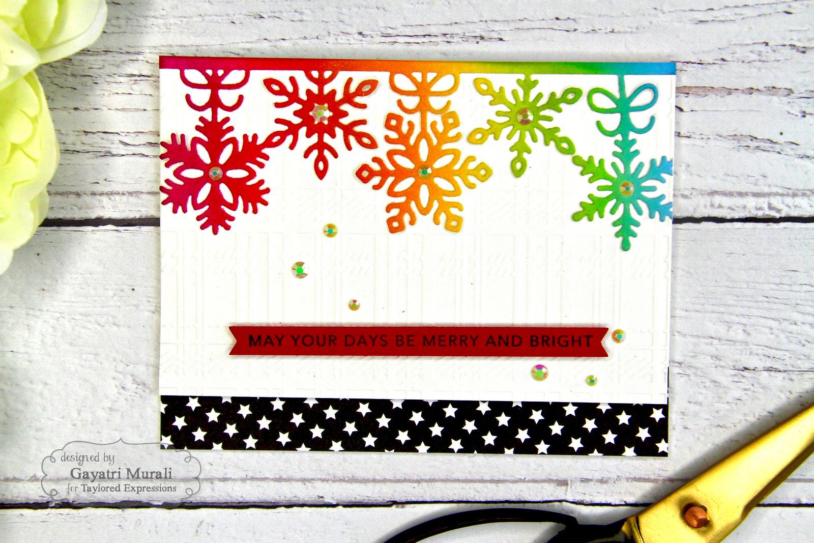 Rainbow Christmas card #4