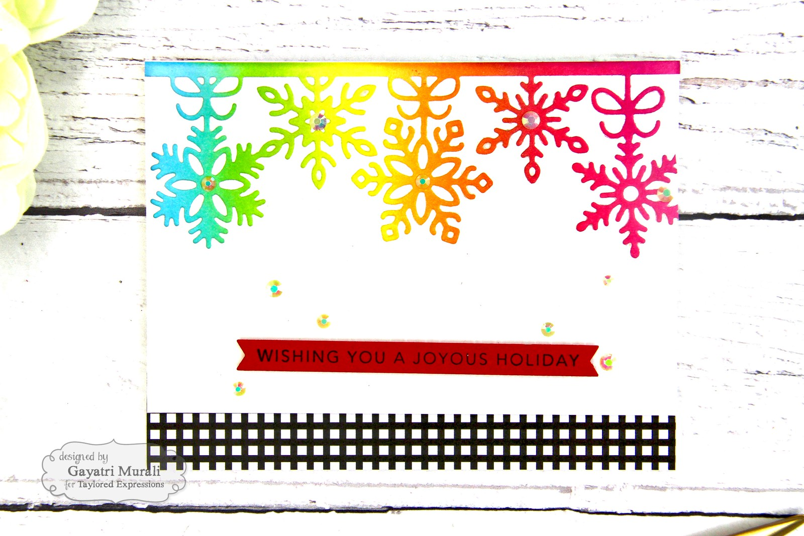 Rainbow Christmas card #3