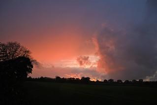 Sonnenuntergang in der Nähe von Travemünde