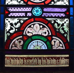 this window is erected by his widow & children