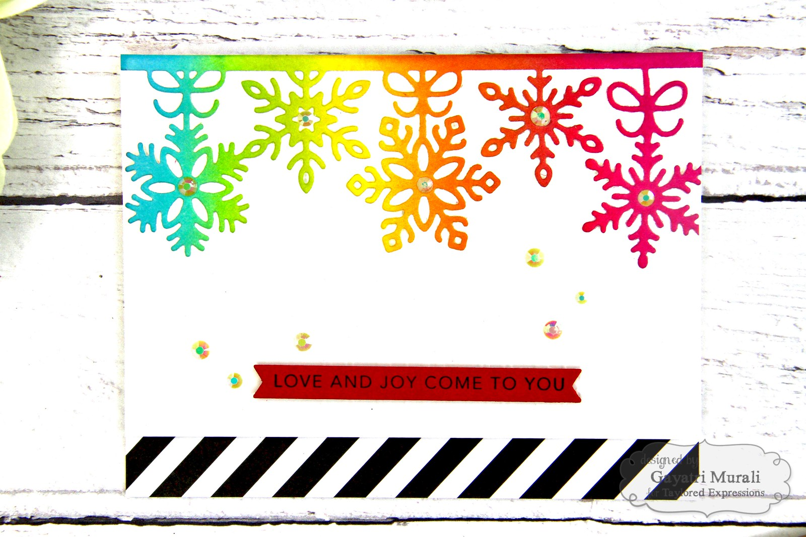 Rainbow Christmas card #2