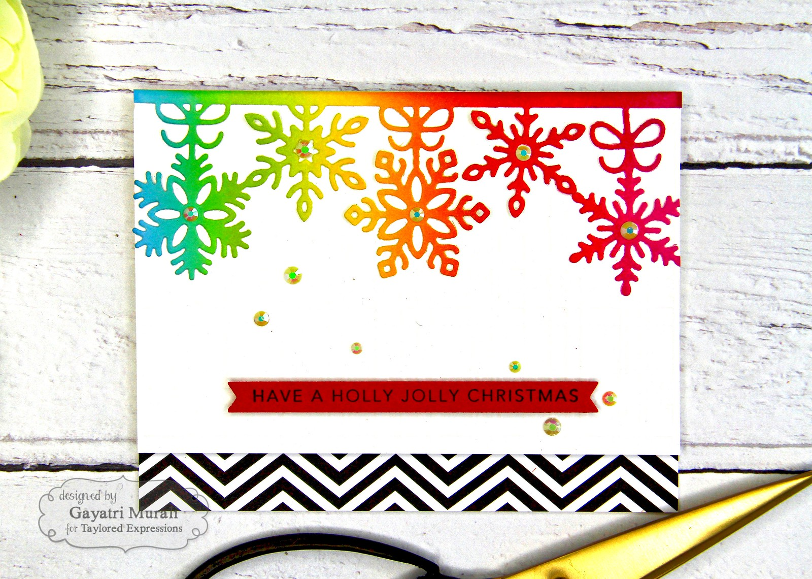 Rainbow Christmas card #1