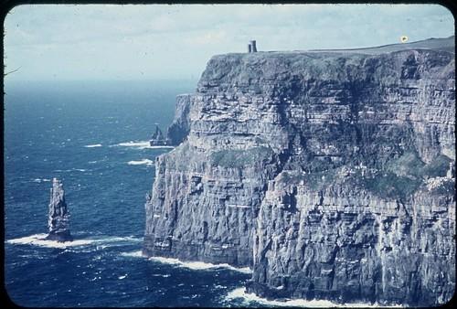 sea cliff seascape rock coast coastline 1960s