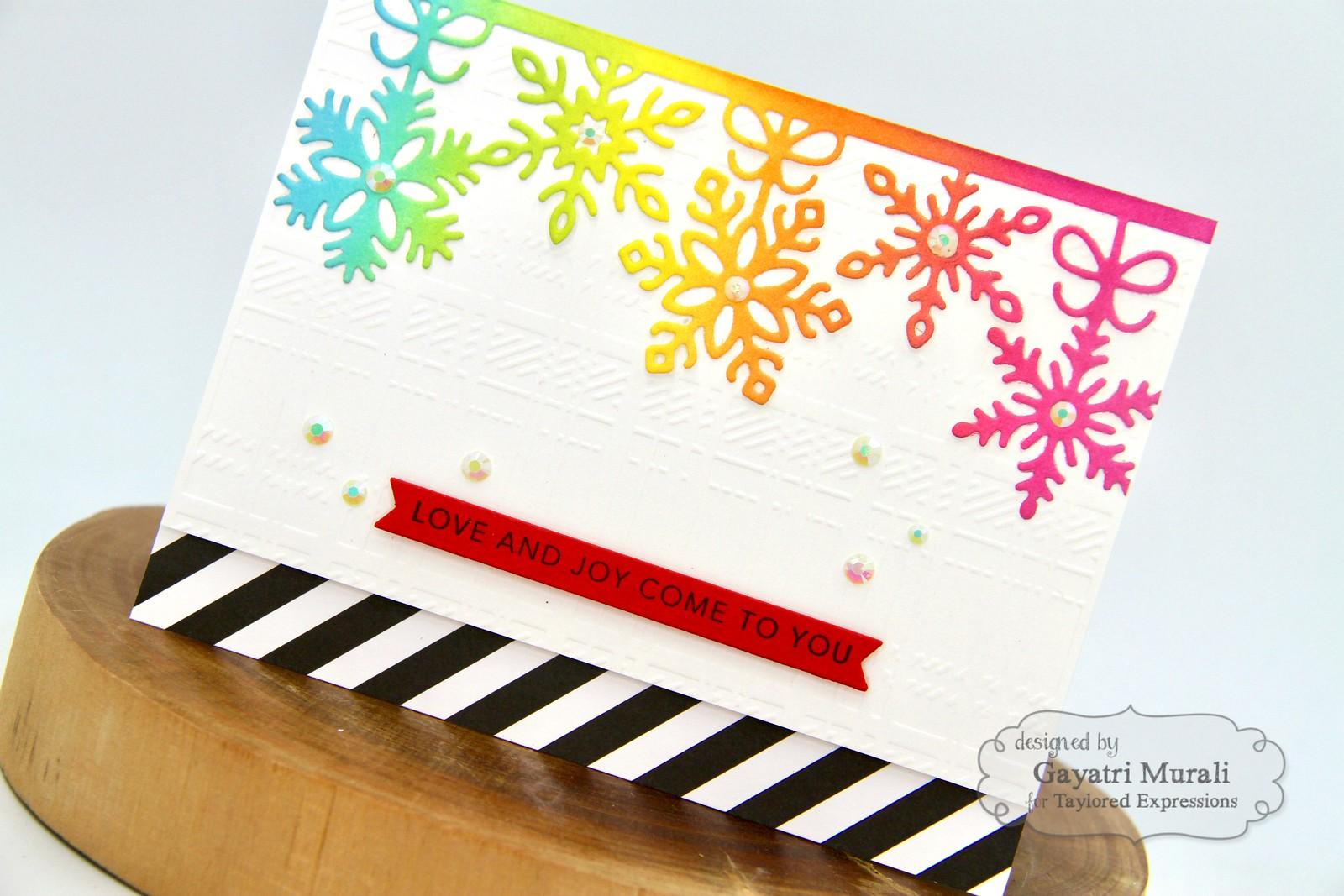 TE Rainbow Christmas card #4 closeup1
