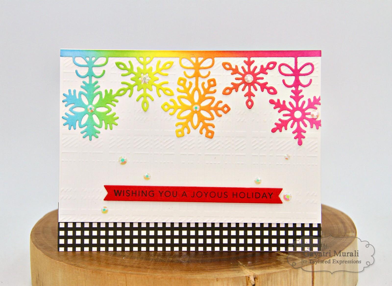 TE Rainbow Christmas card #3