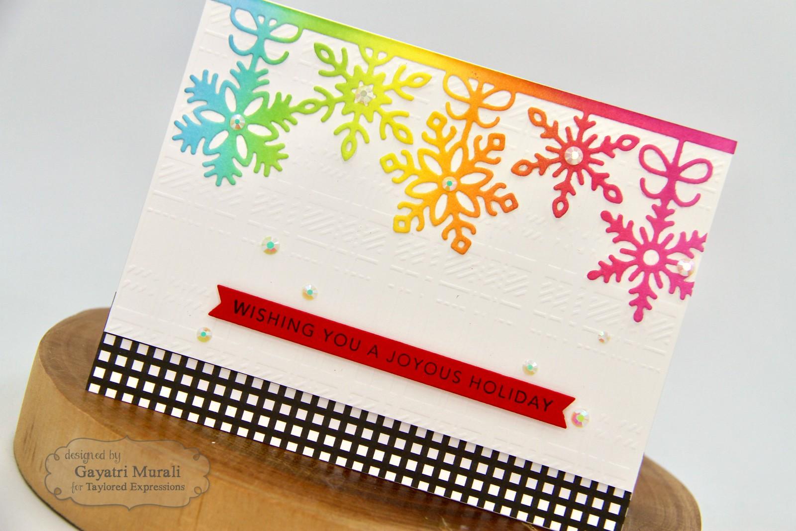 TE Rainbow Christmas card #3 closeup1