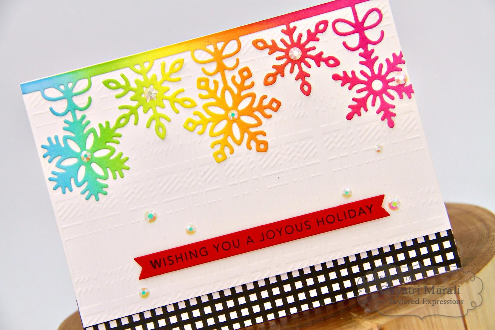 TE Rainbow Christmas card #3 closeup