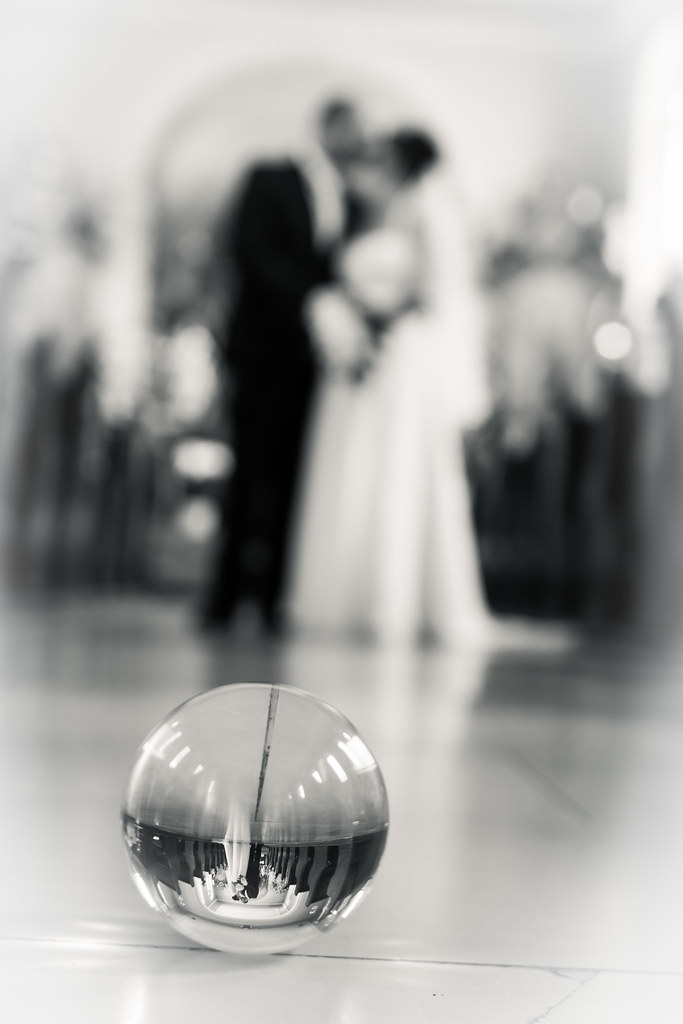 Wedding in the lensball