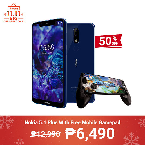 Shopee 11.11 Big Christmas Sale Nokia 5.1 Plus With Free Mobile Gamepad