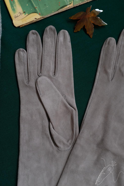 rękawiczki, T. Kowalski, Ko-Moda, skóra koźlęca, retro styl, lata '50.
