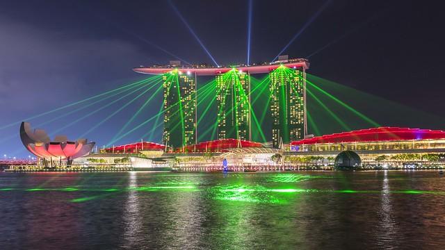 Marina Bay Sands Laser Show 3