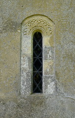 Norman lancet with interlaced carving