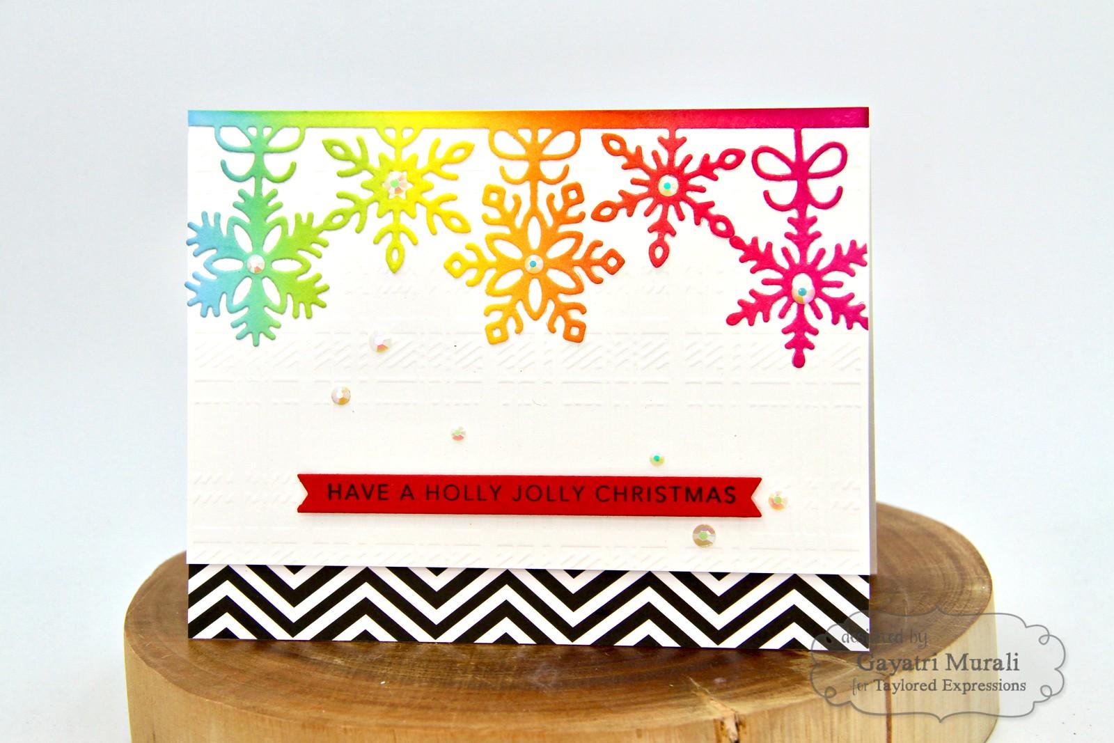 TE Rainbow Christmas card #5