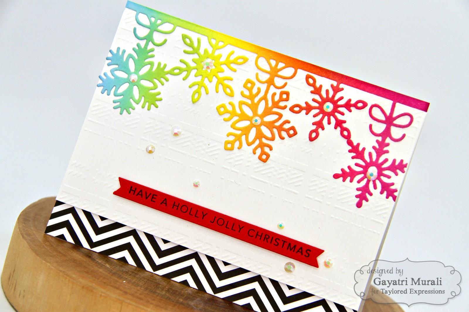 TE Rainbow Christmas card #5 closeup1