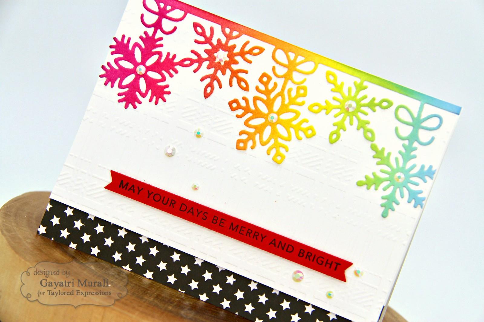 TE Rainbow Christmas card #2 closeup1