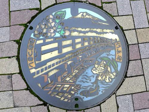 Otsuki Yamanashi, manhole cover (山梨県大月市のマンホール)