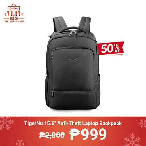 Shopee 11.11 Big Christmas Sale TigerNu 15.6 inch Anti-Theft Laptop Backpack