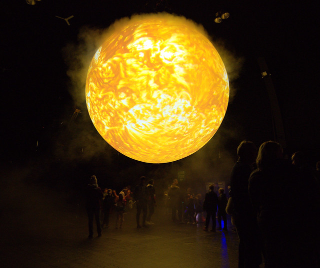 Photos of the Sun exhibition in Blackpool, part of the Lightpool event