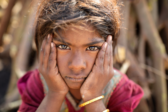 India, Gypsy girl in Kutch