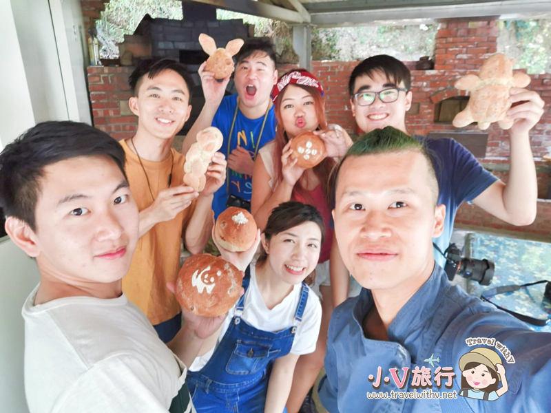 苗栗三義 貝岩居農場 窯烤麵包DIY
