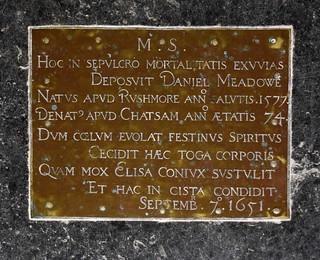 Daniel Meadowe, 1651
