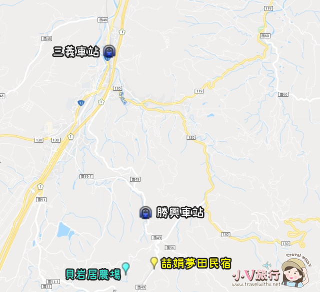 苗栗三義 貝岩居農場 窯烤麵包DIY 地圖