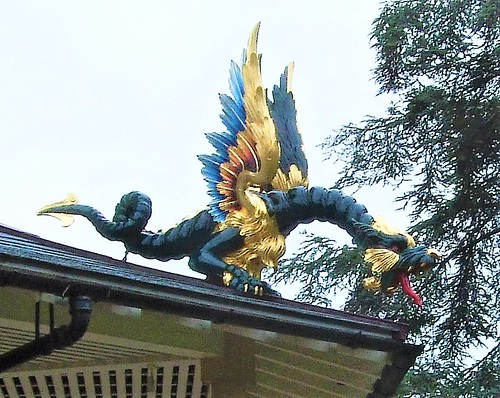 A Dragon On The Kew Gardens Pagoda - London.