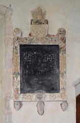faded 17th Century memorial