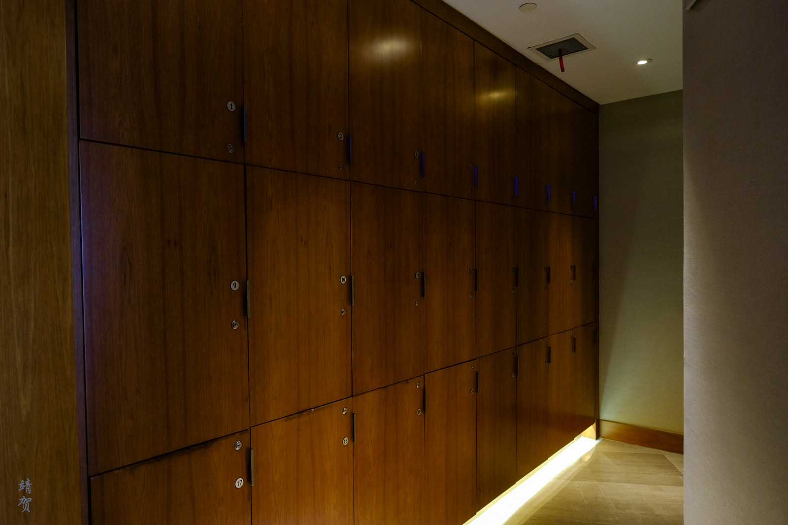 Lockers in the lounge
