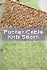 Pucker Cable Knit Stitch