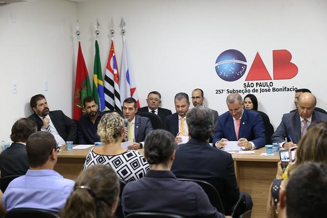 31.10.2019 - Inauguração Subseção OAB José Bonifácio e solenidade de entrega de carteiras