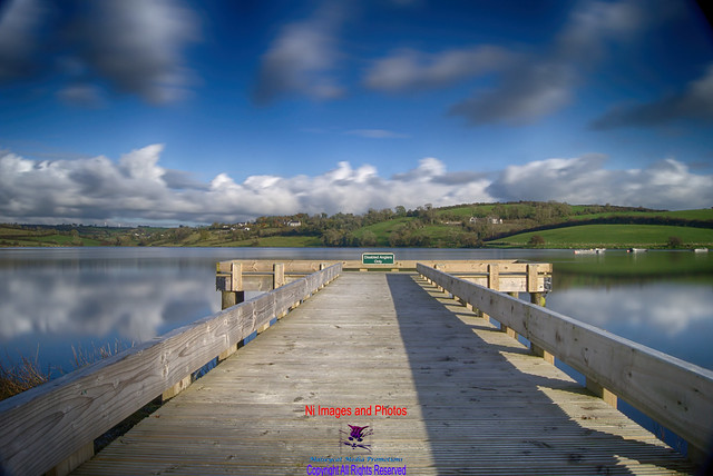 Corbett lake Banbridge winter day fishing jetty