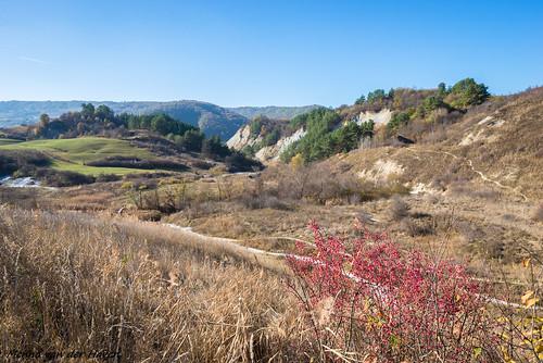 romania transylvania landscape autumn travel hills mountains arid dry scenic