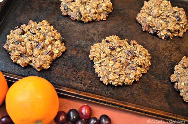 Cranberry Orange Breakfast Cookies 2