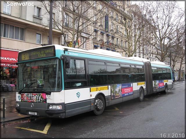 Irisbus Agora L – RATP (Régie Autonome des Transports Parisiens) / STIF (Syndicat des Transports d'Île-de-France) n°1710