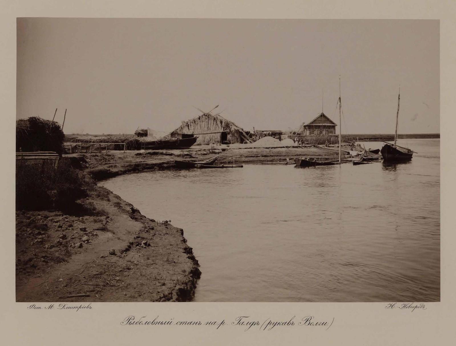 Рыболовный стан на реке Галге (приток Волги)