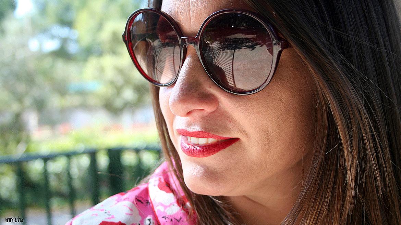 Gafas de sol XL rojas para mujer