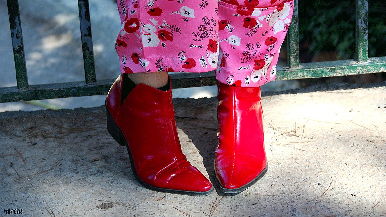Botas rojas de Zara mujer
