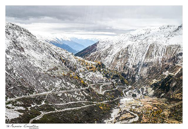 Furka Pass road -  Switzerland - Autumn panorama - NZ6_3301