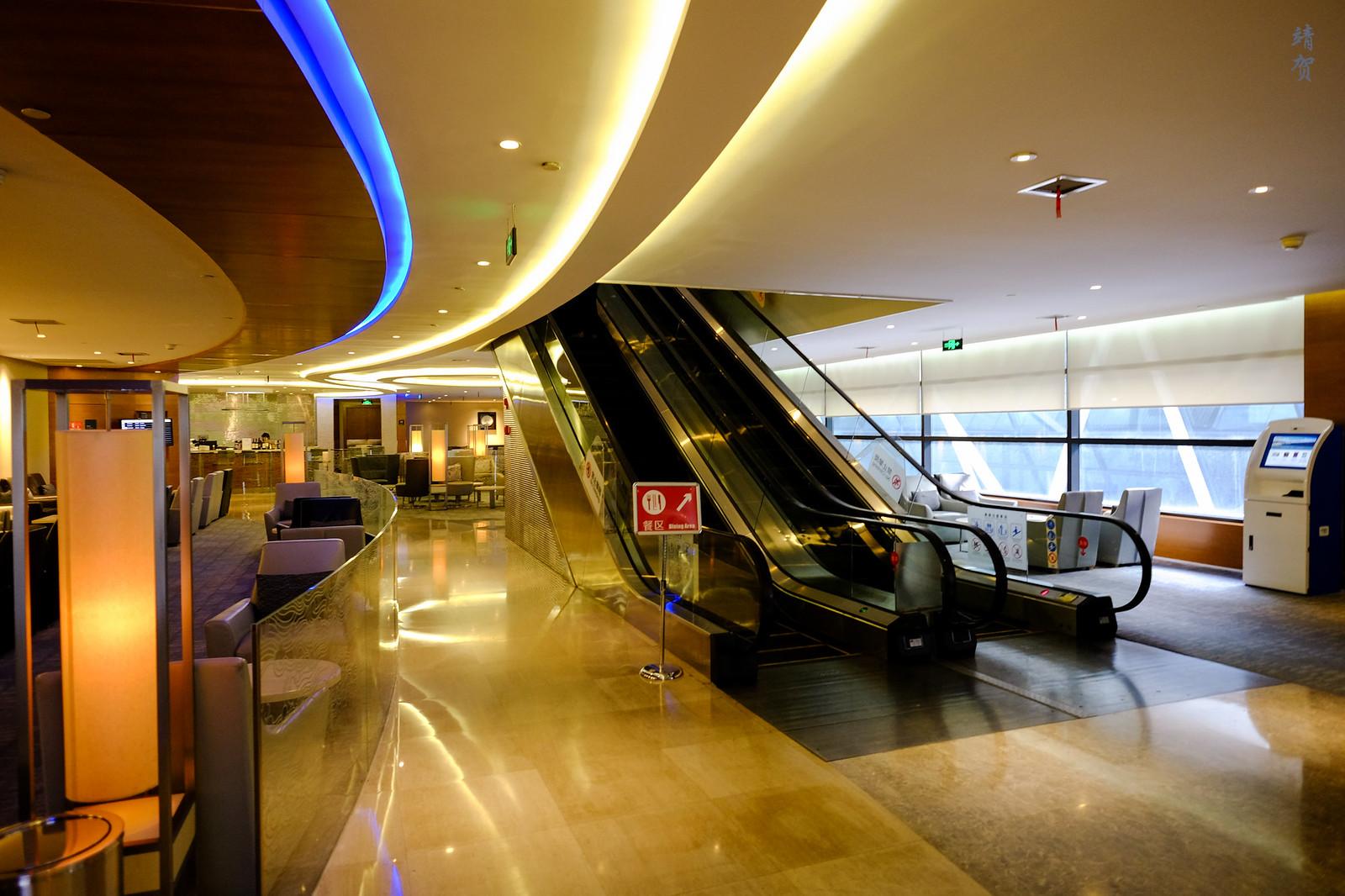 Escalators to the 2nd floor
