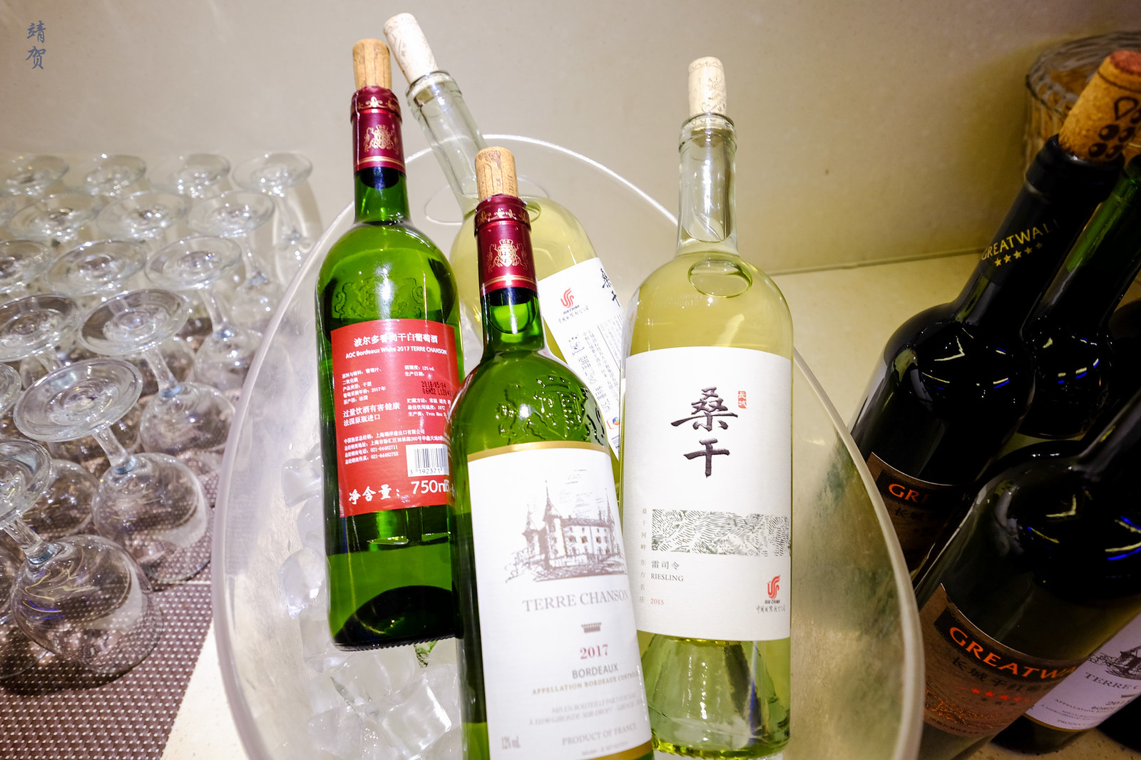 Wines in the bar